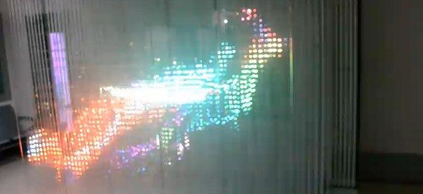 Vidéo : Une animation 3D géante avec une matrice de LED