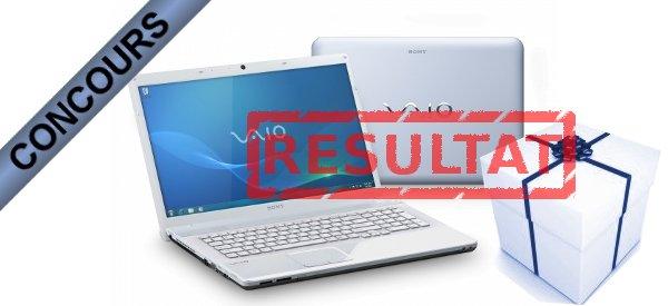 Résultat du concours SONY Vaio VPC-EF3E1E avec AMD