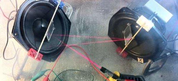 DIY : Contrôler un laser avec des haut-parleurs et un Arduino
