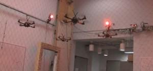 Vidéo : Les drones du GRASP en formation de vol agressive