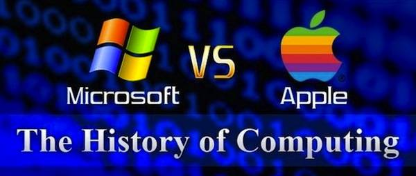 Infographie : Microsoft Vs Apple