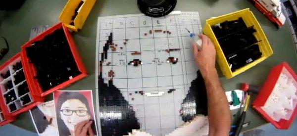 Vidéo : Timelapse de la réalisation d'un portrait en LEGO