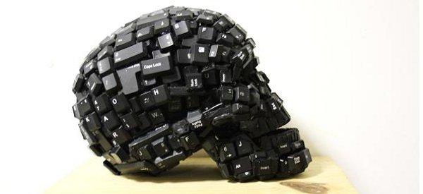 Art : De magnifiques sculptures à base de touches de clavier d'ordinateur