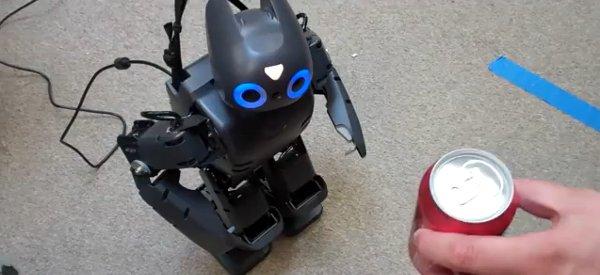 Darwin-OP, un robot qui a une relation conflictuelle avec la bière