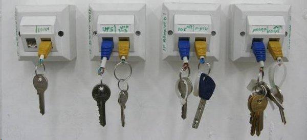 DIY : Fabriquer un porte-clés et son support mural bien geek avec des RJ45