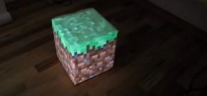 IRL : Un vrai bloc de Minecraft réalisé avec un arduino et un projecteur
