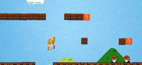 Video : Le premier niveau de Super Mario Bros en version Stop Motion