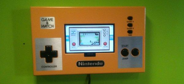 Retro-Gaming : Une Nintendo Game & Watch murale géante et surtout jouable