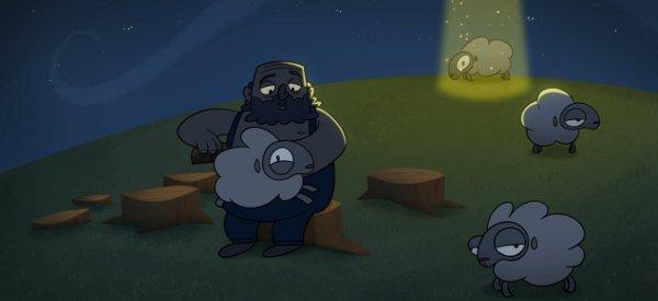 Sheeped Away : Un dessin animé qui explique pourquoi les moutons sont enlevés par les extraterrestres