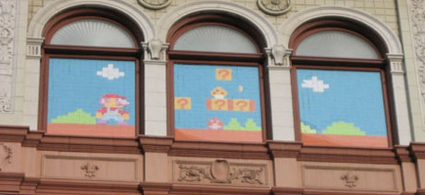 Post-It War : Le niveau 1-1 de Super Mario Bros recréé avec des post-it