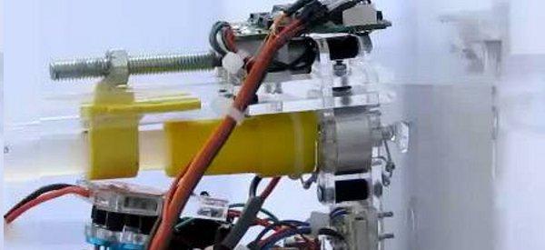 Un robot qui grimpe aux murs avec de la colle HMA