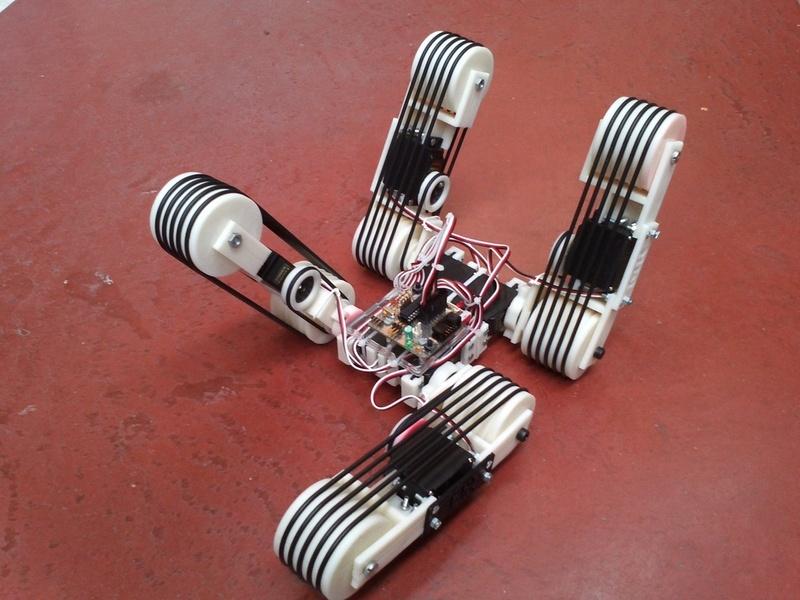 4track un robot 4 chenilles mobiles r alis avec une imprimante 3d semageek. Black Bedroom Furniture Sets. Home Design Ideas