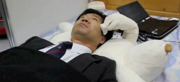 Jukusui-Kun : Le robot oreiller en forme d'ours qui vous empêche de ronfler