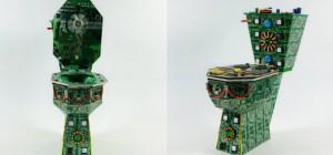 The Royal Data Trone : Des toilettes réalisées avec des circuits imprimés