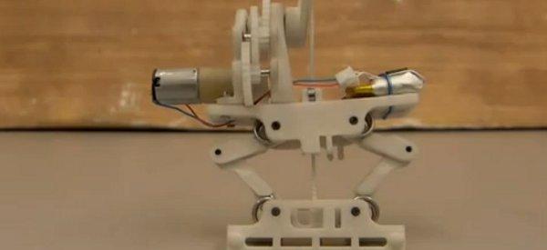 Un robot minimaliste qui se déplace en sautant sur le modèle animal