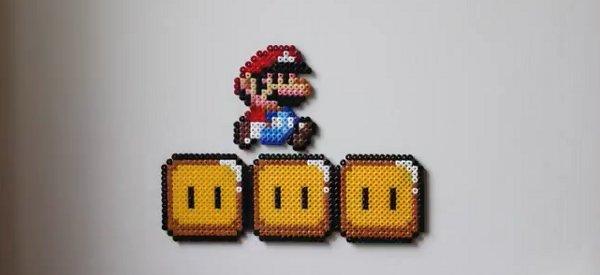 Video : Un niveau de Super Mario Bros en stop motion avec des perles à repasser
