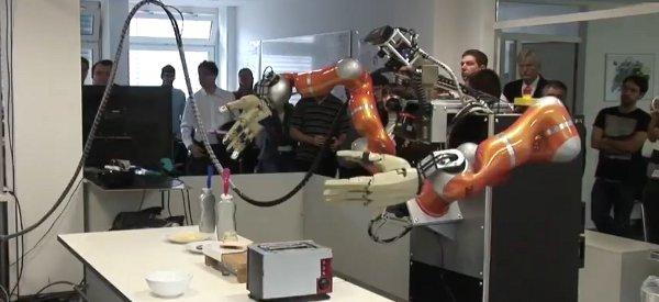 Cuisine de geek : Des robots qui préparent du pop-corn et un sandwich