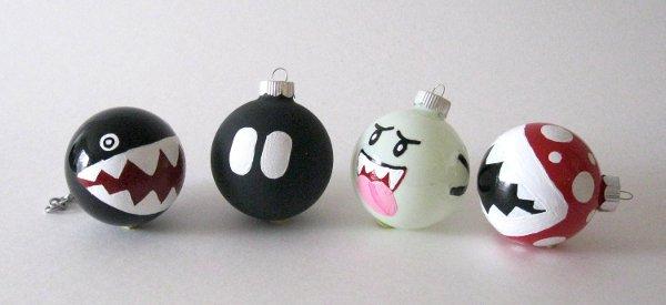 DIY : Customiser les boules du sapin de Noel à la sauce Super Mario Bros
