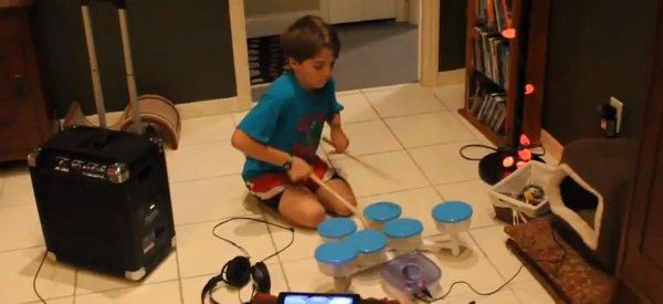 DIY : Fabriquer une batterie avec des boites Ikea, un iPad et un peu d'électronique.