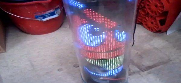 DIY : Un écran tubulaire POV à 64 LED RGB