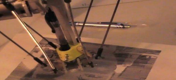 Pythagoras : Un robot delta qui dessine au crayon