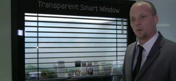 Samsung réinvente la fenêtre avec son écran tactile transparent