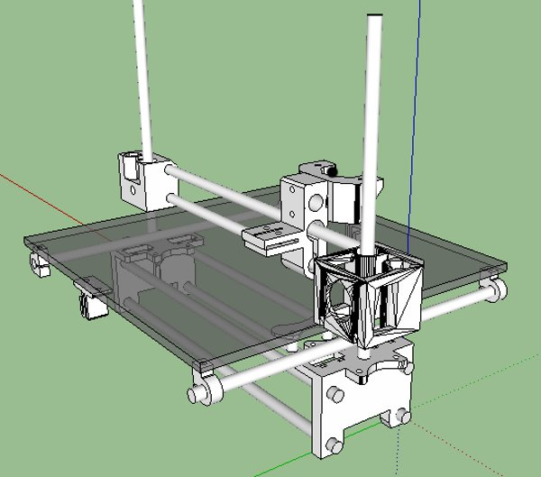 printrbot les plans sont disponibles sur thingiverse semageek. Black Bedroom Furniture Sets. Home Design Ideas