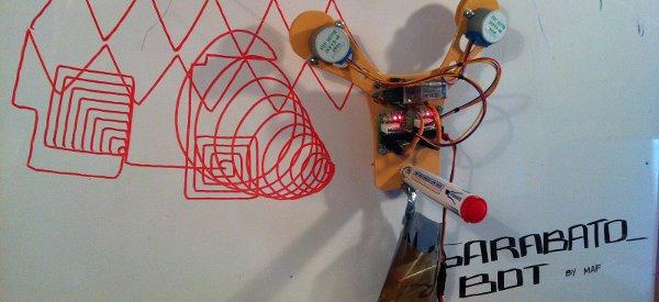 GarabatoBOT : Un petit robot simple à fabriquer qui réalise des dessins au crayon