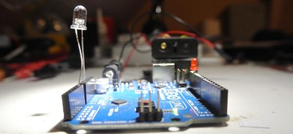 Projet minute:  Arduino avec LED comme capteur de lumière