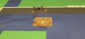 Un drone capable de transmettre de l'énergie sans fil vers une station au sol