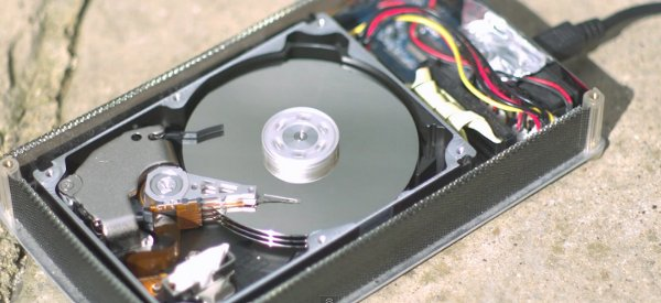 Comment fonctionne un disque dur avec une vidéo en slow motion