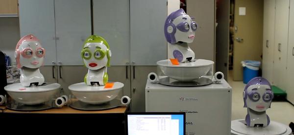 Vidéo : Quatre têtes robotisées qui interprète Bohemian Rhapsody de Queen