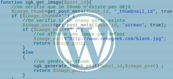 """Wordpress : Générer des """"images à une"""" à partir de l'URL d'un fichier image"""