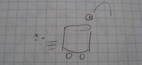 Le robot poubelle qui attrape tout ce qu'on lui jette