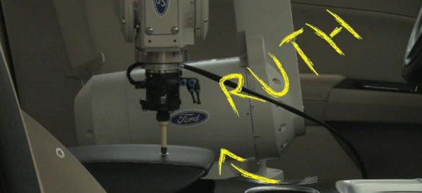 Ruth : Le bras robotisé qui teste l'intérieur des véhicules Ford
