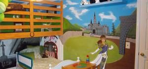 Une nouvelle chambre d'enfant décorée sur le thème de Zelda