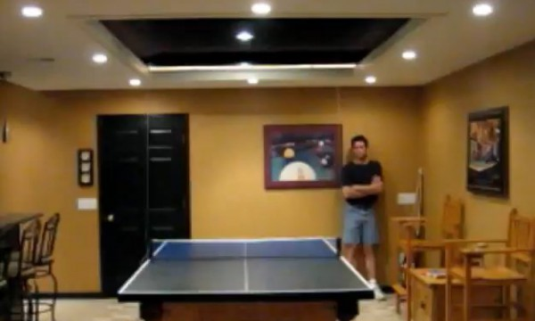 diy transformer un billard en une table de ping pong avec un interrupteur semageek. Black Bedroom Furniture Sets. Home Design Ideas