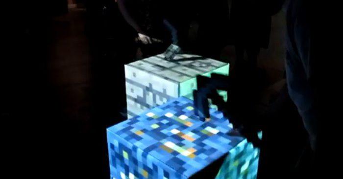 IRL : Des blocs Minecraft intéractifs à casser