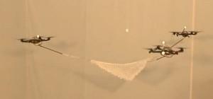 Les quadrocoptères de l'ETH de Zurich jouent à la balle