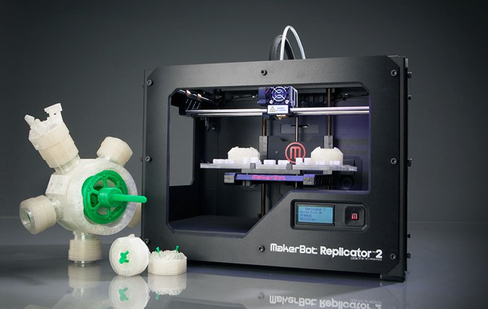 makerbot pr sente sa nouvelle imprimante 3d replicator 2 semageek. Black Bedroom Furniture Sets. Home Design Ideas
