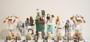 Un échiquier géant sur le thème Star Wars réalisé avec des LEGO