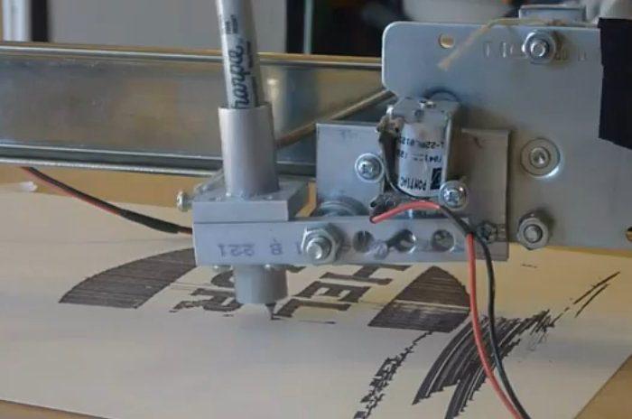 DIY : Une imprimante sur pivot central réalisé avec un Arduino