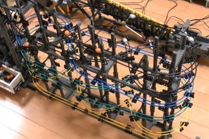 Une nouvelle machine de Great Ball Contraption réalisé en LEGO