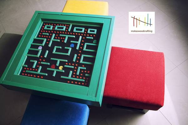 Les créations autour du jeu vidéo Une-table-basse-pacman-pour-decorer-votre-salon-01