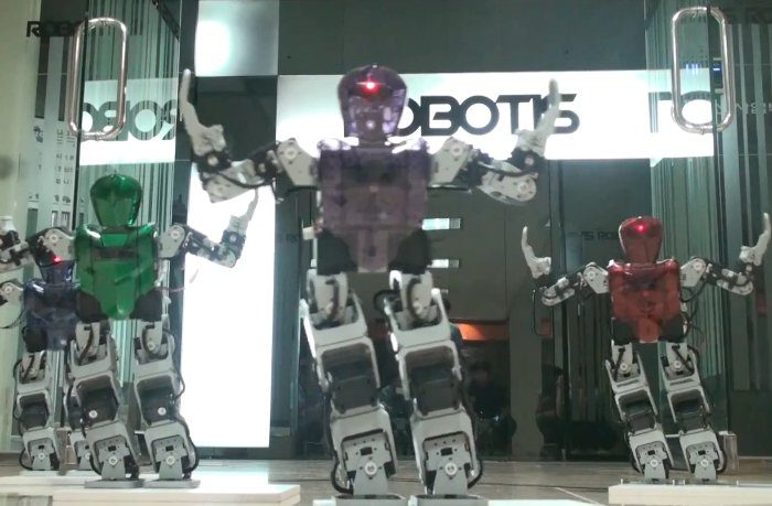 Vidéo : une parodie de Gangnam Style réalisé avec des robots Bioloid