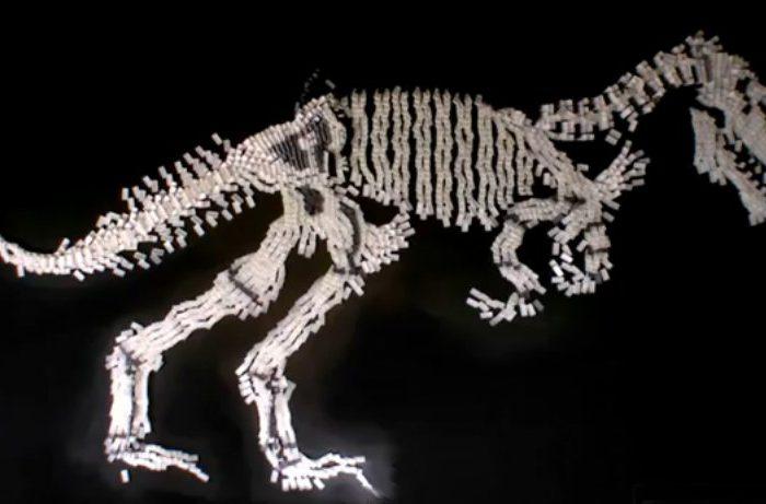 La chute des dinosaures expliquée avec des dominos