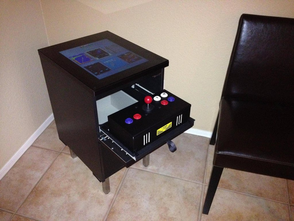 Diy transformer un meuble ikea en borne d 39 arcade semageek for Meuble imprimante