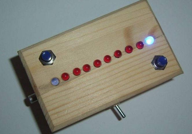 monoPong : Un jeu de Pong à 1 seule dimension réalisé avec des CMOS