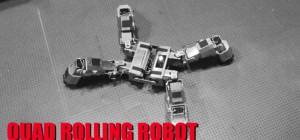 Quad Rolling Robot : Un robot vraiment modulaire
