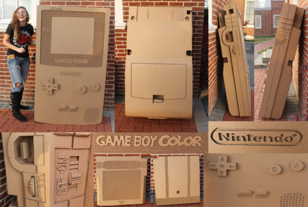 un game boy color en carton a taille humaine 10 600x404 Une Game Boy Color en carton à taille humaine
